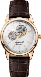 Ingersoll 1892 I07301 Gents The New Haven Movement Automatic Case Stainless Steel Dial White/Silver Strap Leather Brown Matt